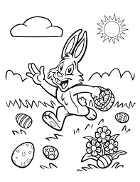 20 Printable Easter Themed Coloring Pages For Kids Happy Bunny Running
