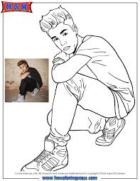 Free Printable Justin Bieber Coloring Pages Beiber Fever Wearing Nice Shoes Page