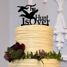 Hunt Is Over Wedding Cake Topper Duck Hunting Country Western Rustic Engagement