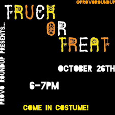 TRUCK-OR-TREAT!!! This Thursday October... - Provo Food Truck ... Breezy Days The Mouse Trap Truck Bloggers Night Out Food Roundup At Wynwood Art Walk Eat A Duck Purveyors Of Bmg Big Christmas Red On Amazon Filepetes Rolling Bbq 3rd Frconian Roundup 2014jpg Provo Archives Daily Universe Round Up Moves To Summit Llagevgonlinecom Rincon Mountain Presbyterian Church Tucson Az Sushi Van Visited The Mustang In Yorba Porter Flea Market Filenuremberg 5th 2015 Ribwich 04 Talking Stick 103015 Trucks In