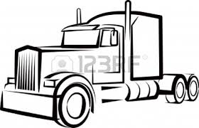 100 Semi Truck Tattoos Semi Truck Outline For A Shirt Tattoo Art