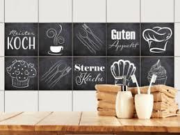 details zu fliesenaufkleber küche 15x15 10x10 20x20cm fliesenfolie grau guten appetit mütze