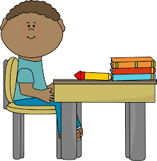 Realistic Student Sitting At Desk Clipart 72 In Science Clipart