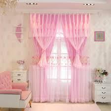 rabatt erhalten senisaihon rosa spitze blackout vorhang