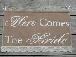 Large Here Comes The Bride Banner