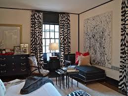 Animal Print Curtains Theme Bedroom