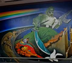 Denver International Airport Murals Painted Over by Denver Airport Conspiracy The Sarvases