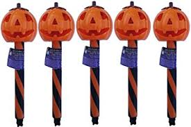 Halloween Yard Stake Lights by Amazon Com Solar Halloween Pumpkin Stake Light Pack Of 6