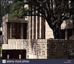 100 Frank Lloyd Wright Textile Block Houses The Storer House Los Angeles California Architect