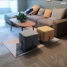 moderne minimalistischen schuh bench sofa goldene bein hocker kleinen quadratischen hocker persönlichkeit hocker wohnzimmer stoff hocker 45 45cm