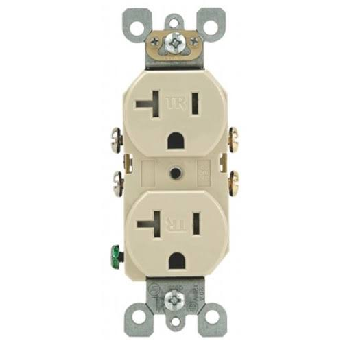Leviton Tamper Resistant Duplex Outlet - Ivory, 20A