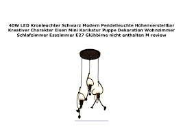 40w led kronleuchter schwarz modern pendelleuchte h