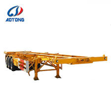 100 Semi Truck Trailers For Sale China 2 Axle 20FT Container Skeleton For