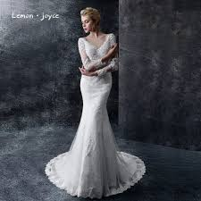 popular long lace sleeves wedding gown buy cheap long lace sleeves
