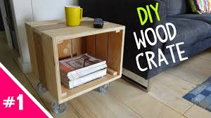 diy reclaimed wood crate table part 1 of 2 youtube
