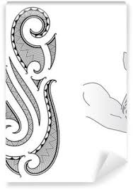 Maori Tattoo Design Fits To A Forearm Self Adhesive Wall Mural