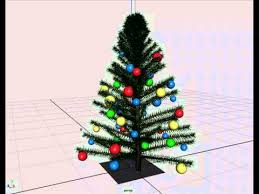 Polytree Christmas Trees Instructions by Autodesk Maya Animation Of A Christmas Tree With Some Ornaments