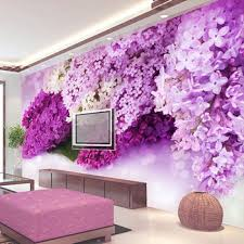 Painting Living Rooms Bedroom Wallpaper Tv Walls Wall Paintings Blue Flowers Dream Murals