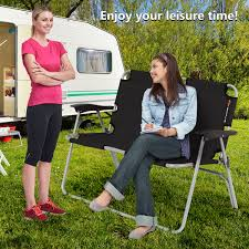 Costway: Costway 2 Person Folding Camping Bench Portable Loveseat ... Bistro Table And Chairs The New Way Home Decor Elegant Cheap Outdoor 60 Inspiring Gallery Ideas For Audubon 6 Person Alinum Patio Amazoncom Jur_global Portable Sideline Bench 24 Person Traing Room Setting Mobilefoldnesting Chairs Walmartcom 6person Cabin Tent With 2 Folding Queen Best Choice Products Wood Pnic Set Natural Helinox Chair One Mec Tables Rentals Plymouth Wedding Rental Essentials Your Camping Camp Travel Family House Room Benefitusa Team Sports Sunrise Sport Hcom Single 5 Position Steel Convertible Sleeper