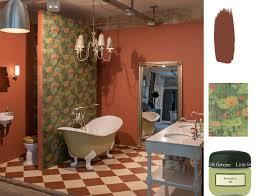 englische badzimmer greene paint wallpaper