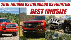 Chevy Colorado Vs Toyota Tacoma Vs Nissan Frontier : Best Midsize ... Compactmidsize Pickup 2012 Best In Class Truck Trend Magazine Kayak Rack For Bed Roof How To Build A 2 Kayaks On Top 6 Fullsize Trucks 62017 Engync Pinterest Chevy Tahoe Vs Ford Expedition L Midway Auto Dealerships Kearney Ne Monster Truck Coloring Pages Of Trucks Best For Ribsvigyapan The 2016 Ram 1500 Takes On 3 Rivals In 2018 Nissan Titan Overview Firstever F150 Diesel Offers Bestinclass Torque Towing Used Small Explore Courier And More Colorado Toyota Tacoma Frontier Midsize