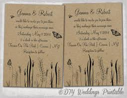 Free Rustic Wedding Invitations Template Editable Butterfly With Etsy