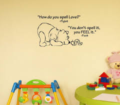 Winnie The Pooh Quotes Pooh by Aliexpress Com Buy How Do You Spell Love Winnie The Pooh Vinyl