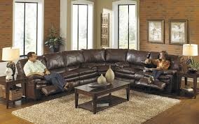 Bradington Young Leather Sectional Sofa by 3 Piece Perez Reclining Sectional In Chestnut Brown By Catnapper