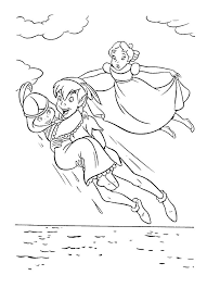 Peter Pan And Tinkerbell Coloring Pages Printable