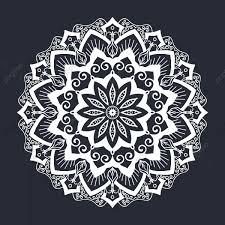 Mandala Blanco Y Negro Ornamento Patron Mandala Patrón