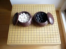 japanese go ban board and stones set japan style