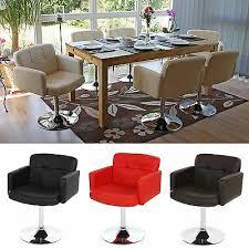 esszimmerstuhl drehbar armlehnen stühle stuhl esszimmer schwarz rot creme braun ebay