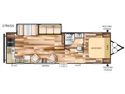 Wildwood Fifth Wheel Floor Plans Colors New 2018 Forest River Rv Wildwood 27rkss Travel Trailer At Byerly