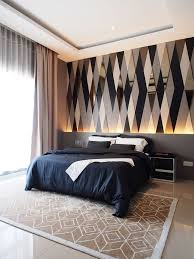 Another Bedroom Idea With Personality See More Feature Wall Adds To The Overall Perception Of Style Grey Interior DesignInterior