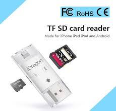 iDragon 3 In 1 TF SD Card Reader Adapter For Lightning Micro USB