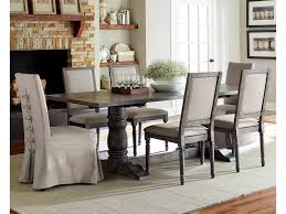 Muses 7-Piece Rectangular Dining Table Set With Parsons Chairs &  Upholstered Back Chairs By Progressive Furniture At Wayside Furniture Ding Room Elegant Kfine Classic Upholstered Parsons Fniture Parson Chair For Your Interior Ideas Contemporary Gray Velvet Nailhead Set Kelsi In Blue Simple And Chairs Floral Fabric Wyndenhall Normandy 7 Pc With 6 And 66 Inch Wide Table Skirted Fresh Sarkis Muses 7piece Rectangular Back By Progressive At Wayside West Design Rustic Chairs Jax 5 Piece Rooms
