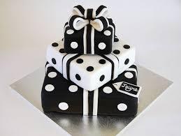 Glamorous Birthday Cakes Beautiful Birthday Cakes  Black and White Present Stack Cake Black & White Pinterest