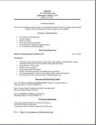 Example Of Veterinarian Resume Also Interesting Sample For Veterinary Technician With Examples