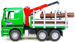100 Bruder Logging Truck With Crane To Load Logs Kid Playing With The YouTube