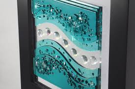 Excellent Emery Recycled Glass Wall Art Pottery Barn For Attractive