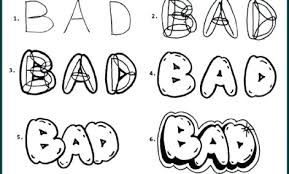 Bubble Letters Drawing at GetDrawings