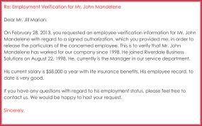 example employment verification letter Savesa