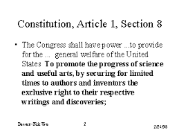 Constitution Article 1 Section 8