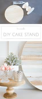 Farmhouse Home How to Make your own Simple DIY Wood Cake Stand in