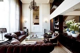 Brown Leather Sofa Decorating Living Room Ideas by Interior Designs For Living Room With Brown Furniture Decorating