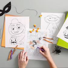 10 Halloween Coloring Pages For Kids And Adults