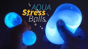 diy glow aqua squishy stress balls liquid stress