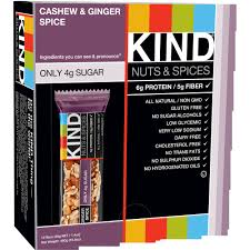 Kind Nuts Spices Cashew Ginger Spice Bars 12 Pack 14 Oz