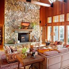 Cool Rustic Living Room Ideas Wonderful With Stone Fireplace Decor