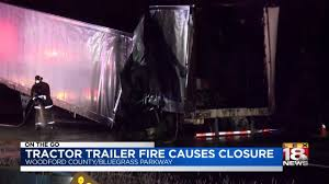 100 Bluegrass Truck And Trailer Tractor Fire Causes Closure YouTube